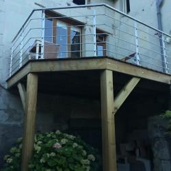 terrasse en lames de bois exotique Ipé