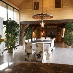 Rénovation salle de vie gîte ossature bois