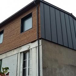 Rehaussement maison loire atlantique 44 zinc anthra